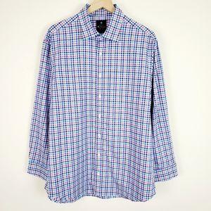 Ben Sherman Blue and Pink Gingham Dress Shirt